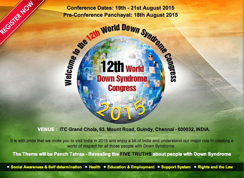 logo world down syndrome congress 2015