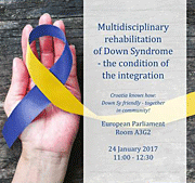 "poster epp-conference ""Multidisciplinary rehabilitation of Down Syndrome – the condition of the integration"" on 24 January 2017"