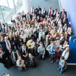 People with Down syndrome from all European countries at the European parliament