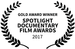 Gold award winner Spotlight Documentary Film Awards 2017