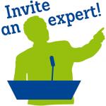 "Logo ""invite an expert!"""