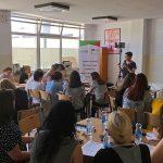 Cora Halder an participants at a DS seminar in Kosovo 2019