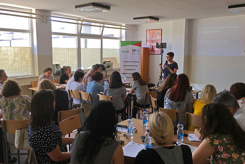 Cora Halder an participants at a DS seminar in Kosovo 2019