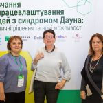 Elena Bolshanina, the president of the Ukrainian DS Association, Cora Halder and Anna Contardi (from left)