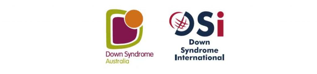 Logos Down Syndrome Australia and Down Syndrome International