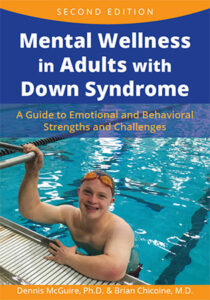 """Front page of the Book """"Mental Wellness in Adults with Down Syndrome"""""""