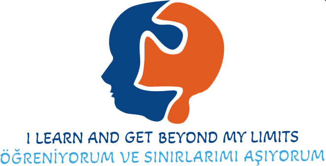 """Logo of the Erasmus+ project """"I learn and get beyond my limits"""""""